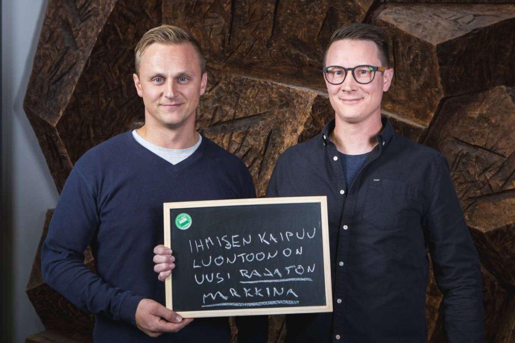 Camp Land Oy:n operatiivinen johtaja Markus Ahonen (vas.) ja toimitusjohtaja Janne Tyynismaa.